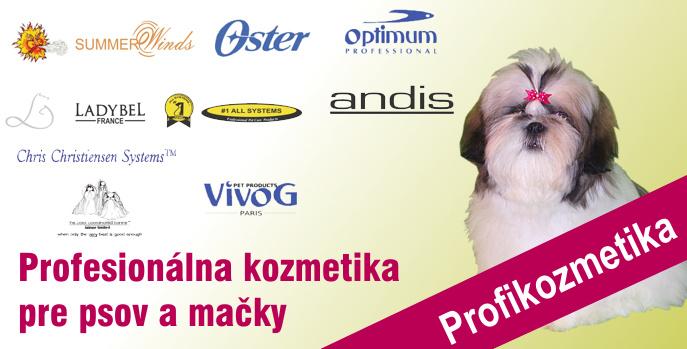 Profesionálna kozmetika pre psov, mačky