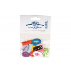 Bavlnené gumičky 12ks mix farieb
