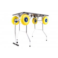 Stôl skladací, trimovací s terénnymi kolesami 100x60cm