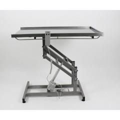 Stôl elektrický nerezový veterinárny operačný (s ovládaním ručným)