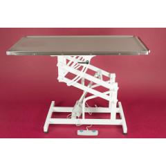 Stôl elektrický nerezový výklopný s ovládaním na nohu