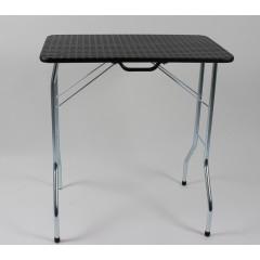 Stôl trimovací skladací bez koliesok 80x50x85cm - čierny