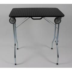 Stôl trimovací skladací s kolieskami 80x50x85cm - čierny