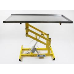 Stôl elektrický nerezový veterinárny operačný (s ovládaním na nohu)