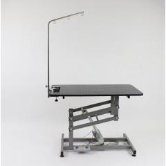 Stôl elektrický, trimovací, veterinárny s ovládaním na nohu