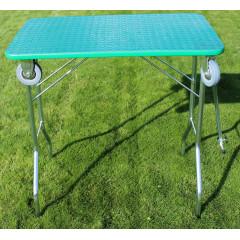Stôl trimovací skladací s kolieskami 80x50x85cm - zelený