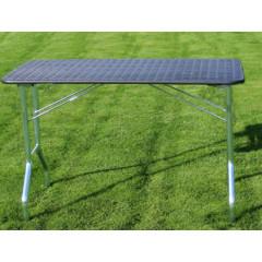 Stôl trimovací skladací bez koliesok 110x55x60cm - čierny