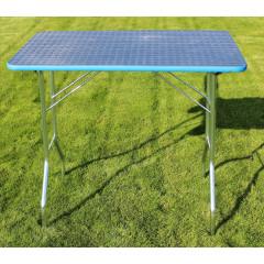 Stôl trimovací skladací bez koliesok 80x50x85cm - modrý