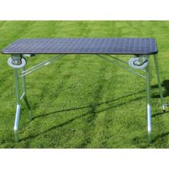 Stôl trimovací skladací s kolieskami 110x55x60cm - čierny