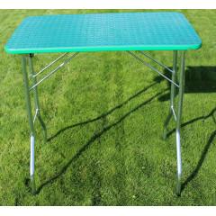 Stôl trimovací skladací bez koliesok 80x50x85cm - zelený